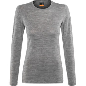 Icebreaker 200 Oasis LS Crew Top Women, gritstone heather